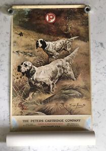 VINTAGE PETERS CARTRIDGE COMPANY AMMO ADVERTISING 1920 CALENDAR REPRINT