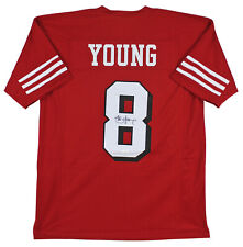 49ers Steve Young Authentic Signed Red Jersey w/ Dropshadow JSA Witness