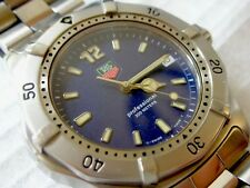 TAG HEUER 2000 classic, professional 200m, BLUE, MEN'S diver, WK1113 extra links