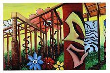 "Jill McLennan Art Oakland, CA Advertising Postcard ""Nature Rules"" Oil on Canvas"