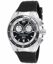 TechnoMarine TM-115335 Women's Cruise Sport Chronograph Black Silicone & Dial