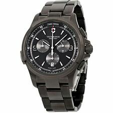 Victorinox 241730 Night Vision Titanium Swiss-Quartz Black Stainless Mens Watch