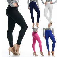 Womens Pants Ladies Exercise Trousers Casual Leggings Slim Fit High Waist