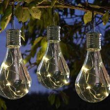 16 x Solar Powered Hanging light Bulbs Garden /Fence/Wall/16 clear bulbs