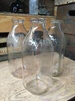 3 Vintage Quart Milk Bottles Kansas City Missouri Dairy KCMDA Bottle 1953-1954