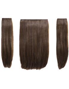 KOKO 18 inch three piece STRAIGHT clip in hair extension Heat Resistant 3 piece