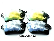 Galaxy Replacement Lenses For Oakley Fast Jacket XL Titanium&Gold Polarized 2PS