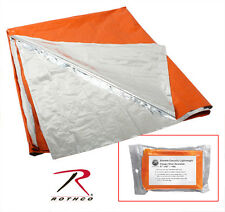 Rothco High Visibility Orange Silver Polarshield Emergency Survival Blanket 1043