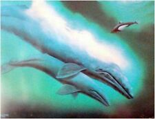 """Robert Wyland   """"Grey Whales and Baby Orca""""  Print      MAKE OFFER"""