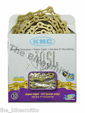 KMC X10SL GOLD Ti-N 10 Speed Bike Chain Fit Shimano Campagnolo & SRAM NewBox USA
