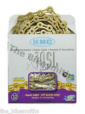 KMC X10SL GOLD Ti-N 10 Speed Bike Chain Fit Shimano Campagnolo & SRAM NewBox USA