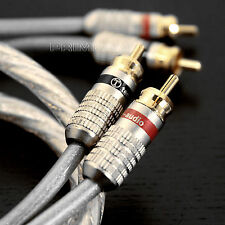 LT Golden Plated Audiophile Hi-end Twin Phone RCA to RCA Hi-Fi Cable 1 Meter NL