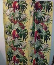 VINTAGE YELLOW FLORAL COTTON TWILL OR BARKCLOTH PANEL