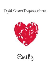 Welsh Valentine's Card - Dydd Santes Dwynwen Hapus - Any Name - Girlfriend Wife