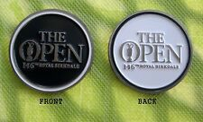 2017 BRITISH OPEN, ROYAL BIRKDALE, BLACK & WHITE DOUBLE SIDED Ball Marker
