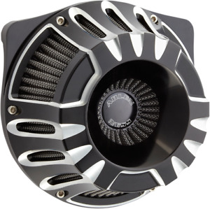 Arlen Ness Inverted Series V-Twin Air Cleaner Black Deep Cut 18-917 USA Made