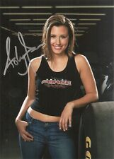 Ashley Force Hood Sexy NHRA FUNNY CAR 5x7 Photo Signed Auto