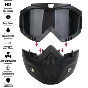 Full Face Goggles Mask Cycling Helmet Airsoft Paintball CS Game Tactical Combat