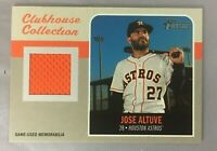 HERITAGE 2019 CLUBHOUSE COLLECTION JOSE ALTUVE TOPPS RELICS JAL CCR ASTROS