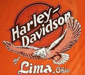 VTG 1998 Harley Davidson Motorcycles T-Shirt Lima Ohio Adult Size Extra Large XL