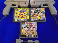 ps1 POINT BLANK 1, 2 & 3 Games Collection + 2 NAMCO G-CON 45 Guns PAL