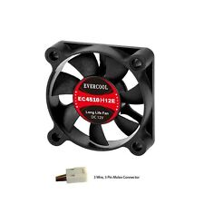 Evercool 45mm 4.5cm 45 x 45 x 10mm 3 Pin 12 Volt PC Case Fan (H) EC4510H12EA