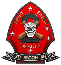 "2nd USMC Force RECONNAISSANCE BATTALION Metal Sign- All Metal Sign 16 x 15"""