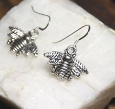 Sterling Silver Hooks Pewter Charm Pendants Bumble Bee Earrings Bumble Bees 925