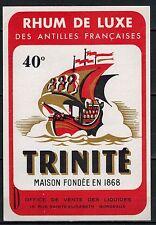 Etiquette - Rhum De Luxe  -Antilles Francaises -  40° - Trinité - Réf.n°202