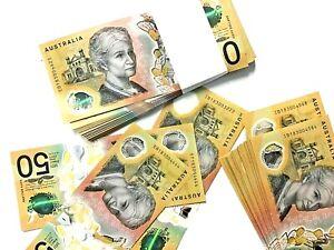 """2018 $50 notes x 2  IB18 Last Prefix """"consecutive"""" and Unc (misprint) Perfect"""
