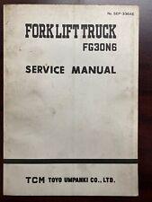 TCM FORKLIFT SERVICE MANUAL SEF-336AE