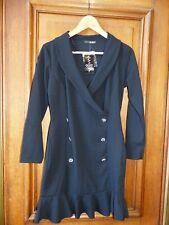 Quiz Petite Size 12 Black Button Front Blazer Dress BNWT RRP £30
