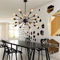 E27 Living Room Lights Ceiling Fixtures Chandelier Vintage Metal Pendant Lamps