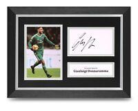 Gianluigi Donnarumma Signed A4 Framed Photo Display AC Milan Autograph + COA