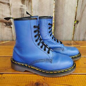 💥Dr. Martens Doc England Rare 90's Vintage Electric Blue 1460 Boots UK3 US5💥