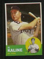 AL KALINE #25 TOPPS 1963 Detroit Tigers Vintage Original Card MINT!