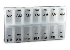 Jumbo Weekly AM/PM Pill Box - Item 307 IN BLUE