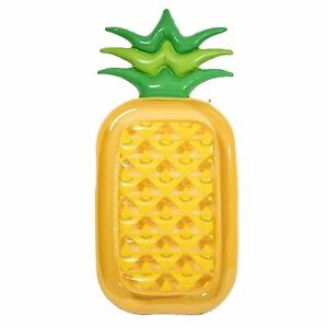 Giant 72 Pineapple Pool Party Float Raft Summer Outdoor Swimming Pool Yellow New