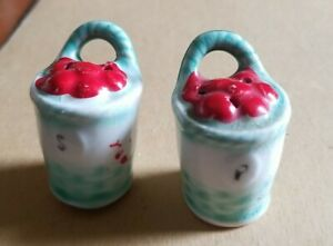 Ceramic Apple Harvest Basket Salt & Pepper Shakers