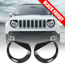 Front Light Bezels Headlight Angry Eyes Style Trim Cover For Jeep Renegade 15-17 (Fits: Jeep)