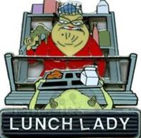 Disney Pin 61906 WDW PTU Trading University 2008 Monsters Roz Lunch Lady LE