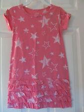 NWT Baby Girls Joe Fresh Short Sleeve Pink Star shaped knee length dress sz 4
