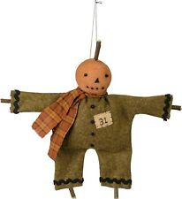 PBK Primitive Halloween Mini Jack O'Lantern Doll
