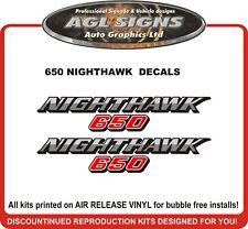 1985 HONDA 650 NIGHTHAWK SIDE PANEL DECAL SET reproductions 550