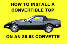 Chevrolet Corvette 86-93 How to Install a Convertible Top DIY Video on DVD