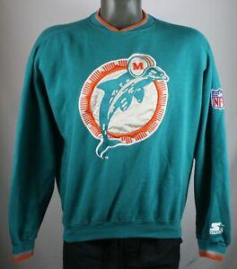 Vintage 90s Miami Dolphins Starter NFL Pro Line Authentic Sweatshirt Jumper NFL