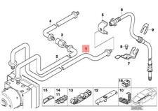 Genuine BMW E46 Cabrio Coupe Sedan Wagon Rear DSC Brake Pipe OEM 34326754884
