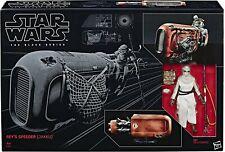 Hasbro STAR WARS The Black Series: REY'S SPEEDER (JAKKU)™ w/ Rey (Scavenger) ...