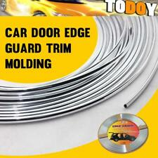 New 20Ft 6M Chrome Silver Moulding Trim DIY Car Door Edge Guard Strip Protector
