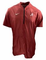 Nike Men's Alabama Short Sleeve Baseball Jacket Red Size Large